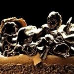 Chocolat Gâteau Pièce montée Copeaux en coupe &