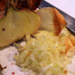 Oignon haché ou ciselé