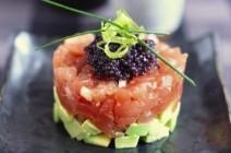 Tartare de Saumon fumé et gravlax, avocat et caviar