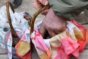 un rituel d'achat, ces paniers couverts et découverts...