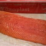 Saumon mariné en gravlax terminé