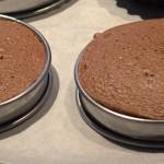 cercles de mousse froid après cuisson
