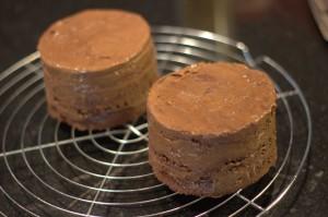 Gateau Chocolat démoulé après passage au froid