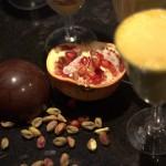Coque chocolat grenade tiramisu pistaches