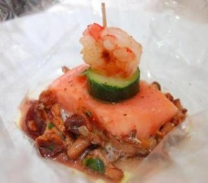 pavé de saumon dressé