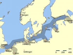 Routes commerciales dans la ligue hanséatique