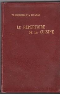 Répertoire Cuisine Gringoire & Saulnier