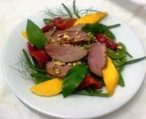 anard confit salade mangue tomate confite pois vert