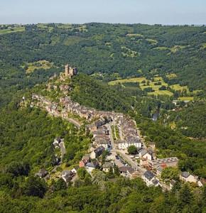 Najac  en Aveyron Vue générale