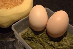 Ingrédients : Pommesde terre, oeufs, oseille fanée