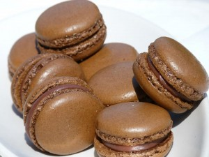Macarons Chocolat fourré Chocolat